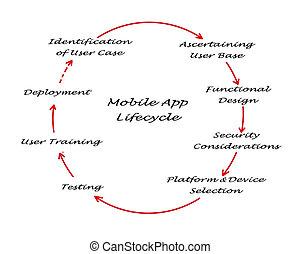 lifecycle, app, モビール