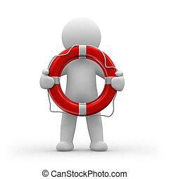 Lifeguard - 3d human life-guard with a life belt