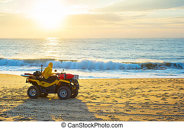 Lifeguard baggi beach. Nazare, Portugal
