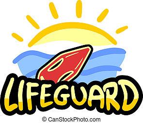 Lifeguard beach - Creative design of lifeguard beach emblem