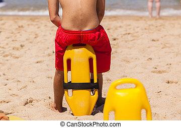 Lifeguard Beach Rescue Bouy - Lifeguard rear undentified ...