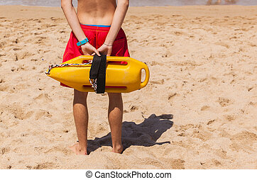 Lifeguard Beach Rescue Bouy - Lifeguard rear undentified ...