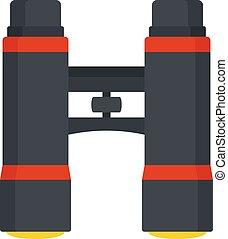 Lifeguard binoculars icon, flat style