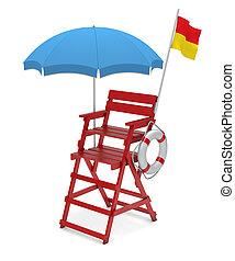 Lifeguard chair - 3D illustration