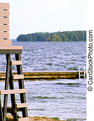 Lifeguard Chair At Lake