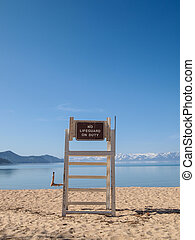 lifeguard chaise, stand