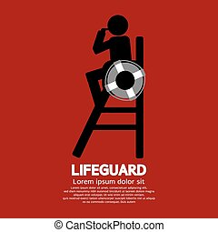 Lifeguard. - Lifeguard Vector Illustration.