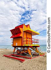 Lifeguard house in Miami Beach