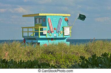 Lifeguard hut Miami