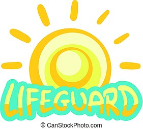 lifeguard icon - Creative design of lifeguard icon