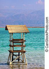 lifeguard kunyhó, tenger, holt