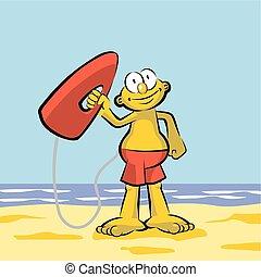 Lifeguard on the beach