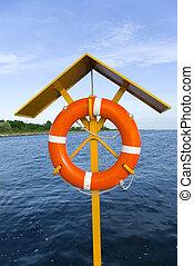 lifeguard, på, pligt