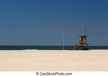 f28298b09aeb Lifeguard shack. A lifeguard stand on a tropical beach.