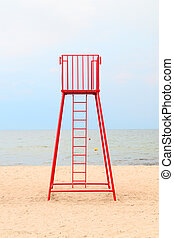 A place of work of a lifeguard