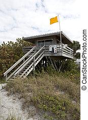 lifeguard station on