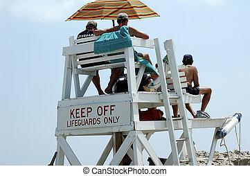 lifeguard stoją