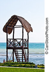 Lifeguard Tower by Blue Sea