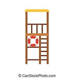 Lifeguard Tower Vector illustration