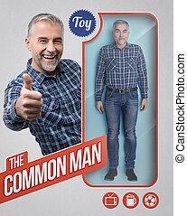 Lifelike male doll