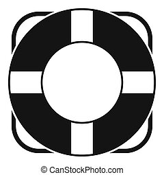 Lifeline icon, simple style - Lifeline icon. Simple...