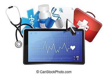 lifeline medical concept illustration design over a white background