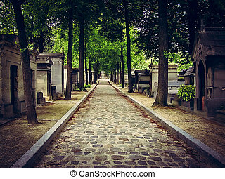 Pere Lachaise Cemetery - Paris - Life's Inescapable Path - ...