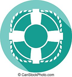 lifesaver flat icon