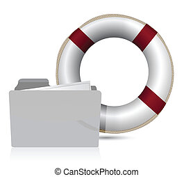 lifesaver sos folder illustration design