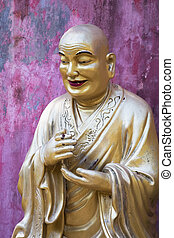 lifesize, bouddha, statues, dix mille, buddhas, monastère, hong kong, porcelaine
