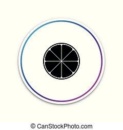 lifestyle., citrus, cut., gezonde , vrijstaand, fruit, button., achtergrond., vector, illustratie, oranje cirkelen, witte , pictogram
