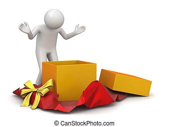 Lifestyle collection - Unwrapping present - 3d characters...