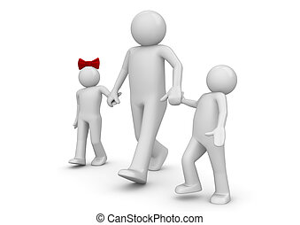 Lifestyle collection - Walking family