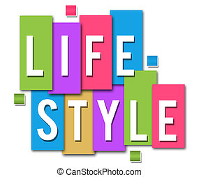 Lifestyle Colourful Stripes - Lifestyle text in white over...