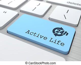 Lifestyle Concept - The Blue Active Life Button.