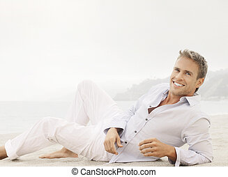 Lifestyle male model with smile