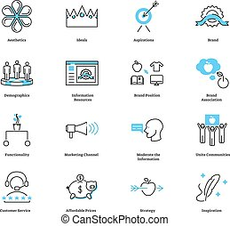 Lifestyle marketing icon collection set. Advertising vector illustration.