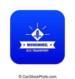 Lifestyle mono wheel icon blue