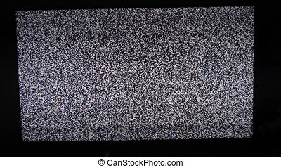 lifestyle noise tv background. Television screen with static...