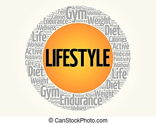 LIFESTYLE word cloud collage