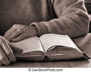 Lifetime of Faith2 - Elderly woman reading Bible