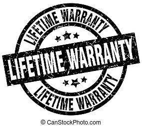 lifetime warranty round grunge black stamp