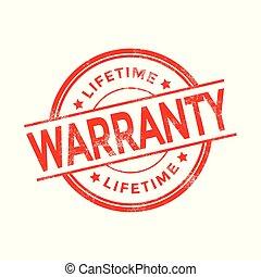 Lifetime Warranty Rubber Stamp.