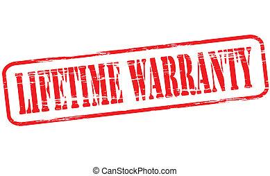 Lifetime warranty - Rubber stamp with text lifetime warranty...