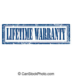 Lifetime Warranty-stamp - Grunge rubber stamp with text...