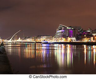 Liffey River at night