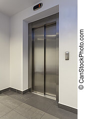 Lift - Door of lift in a modern building, vertical
