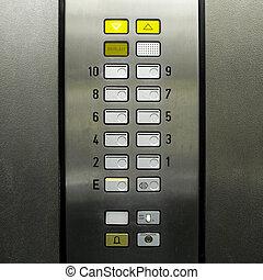 lift, felvonó, keypad