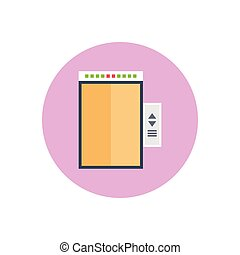 lift  flat color icon