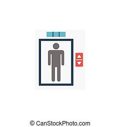 lift flat icon